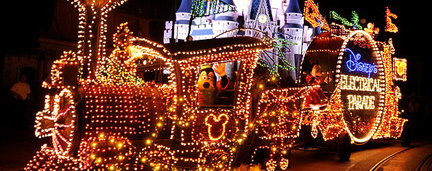 The Disney Electrical Parade. Photo credit: www.insidethemagic.com