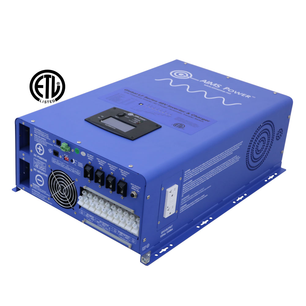 12000 Watt Inverter Charger 12kw 48 Volt Aims Power 5000 Pwm Circuit Schematic Electronics