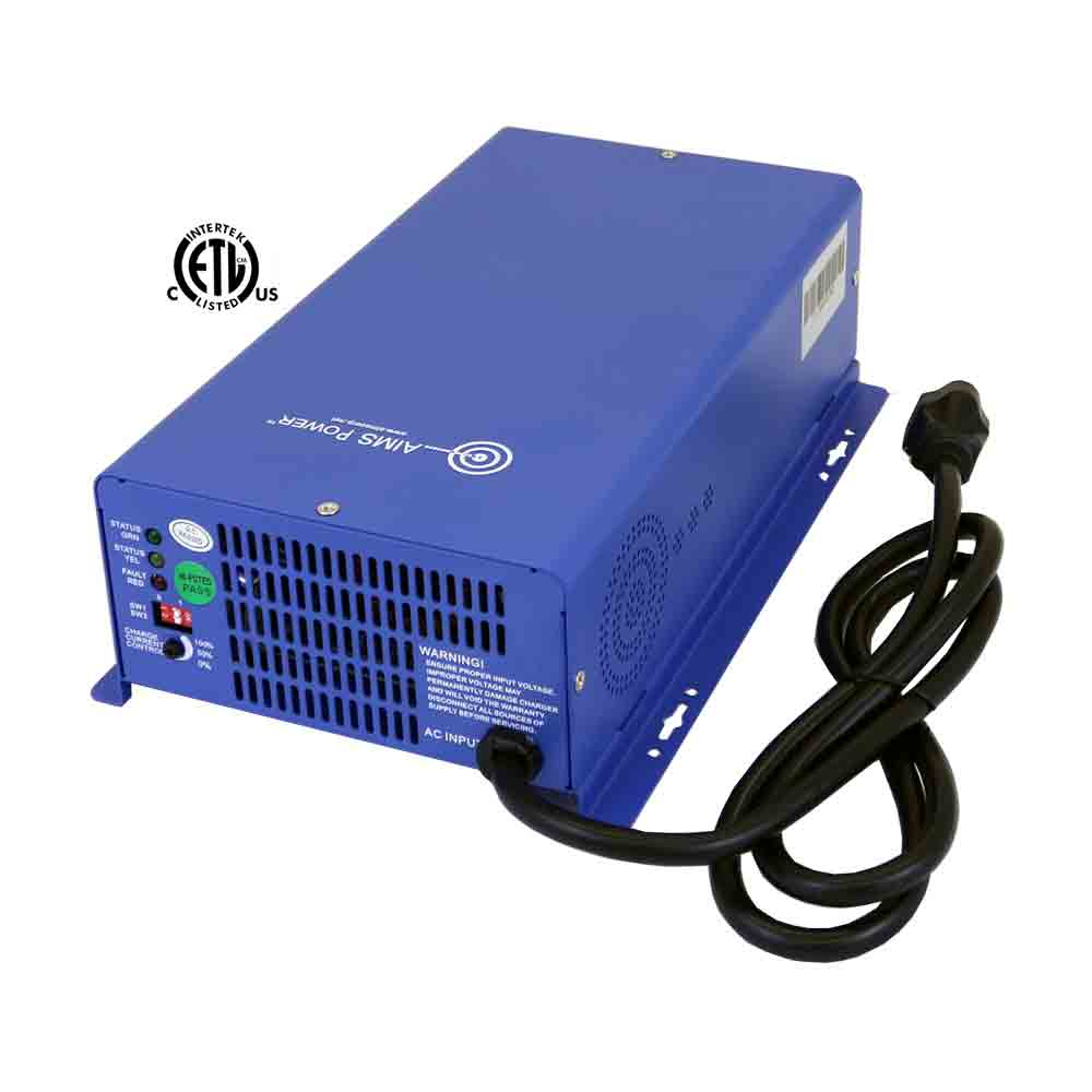 AC Converter / Battery Charger 12V & 24V Smart Charger 75 Amps - Listed to UL 458/CSA