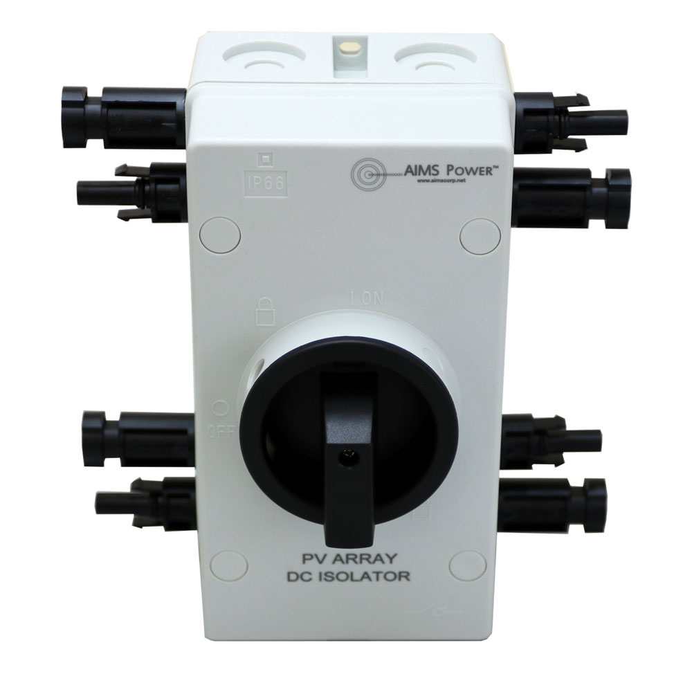 AIMS Power Solar PV DC Quick Disconnect Switch 1000V 64 Amps ETL Listed to UL Standards - Out of Stock