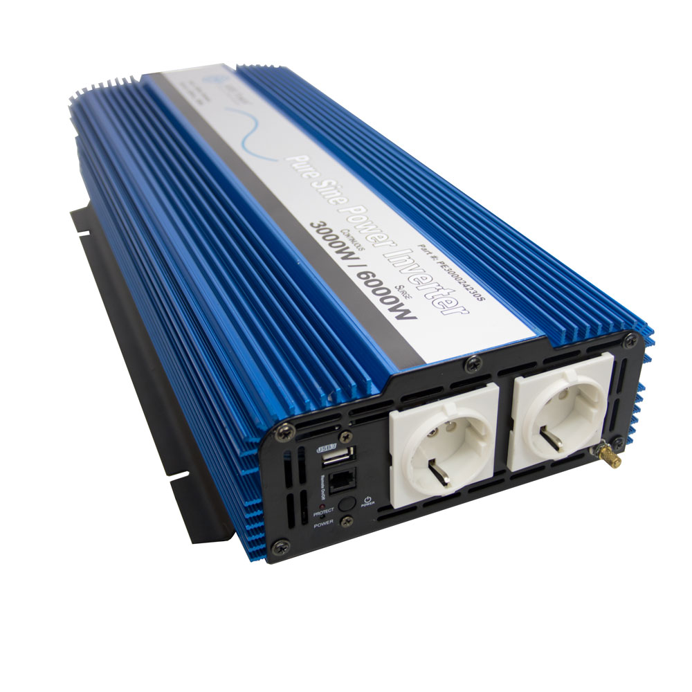 3000 Watt Pure Sine Inverter European 12 VDC to 230 VAC
