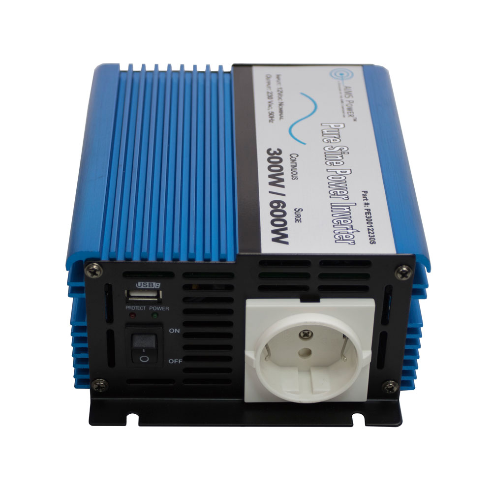 600 Watt Pure Sine Power Inverter European 12 VDC to 220/230 VAC