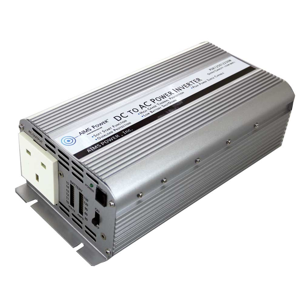 1250 Watt Power Inverter UK Plug 230 Volt European 12 Volt