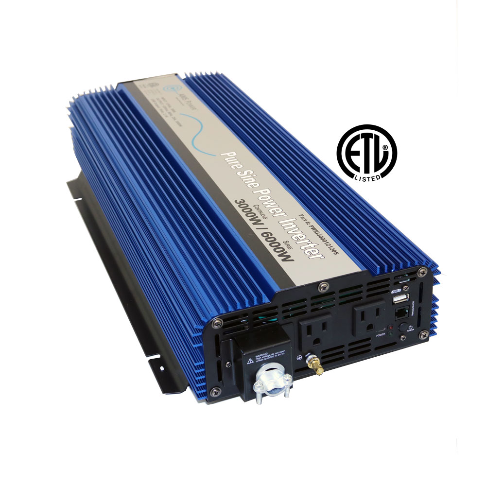 3000 Watt Pure Sine Inverter ETL Certified conforms to UL 458