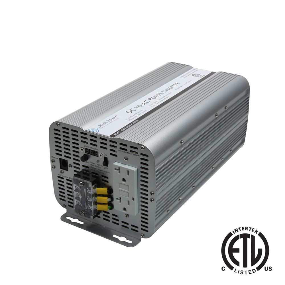 3000 Watt Power Inverter GFCI ETL Certified Conforms to UL458 Standards
