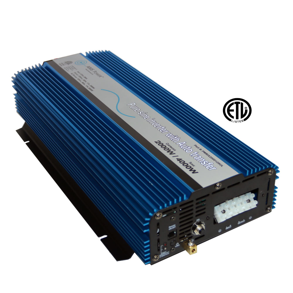 2000 Pure Sine Inverter with Transfer Switch - ETL Certified Conforms to UL458 Standards Hardwire Only
