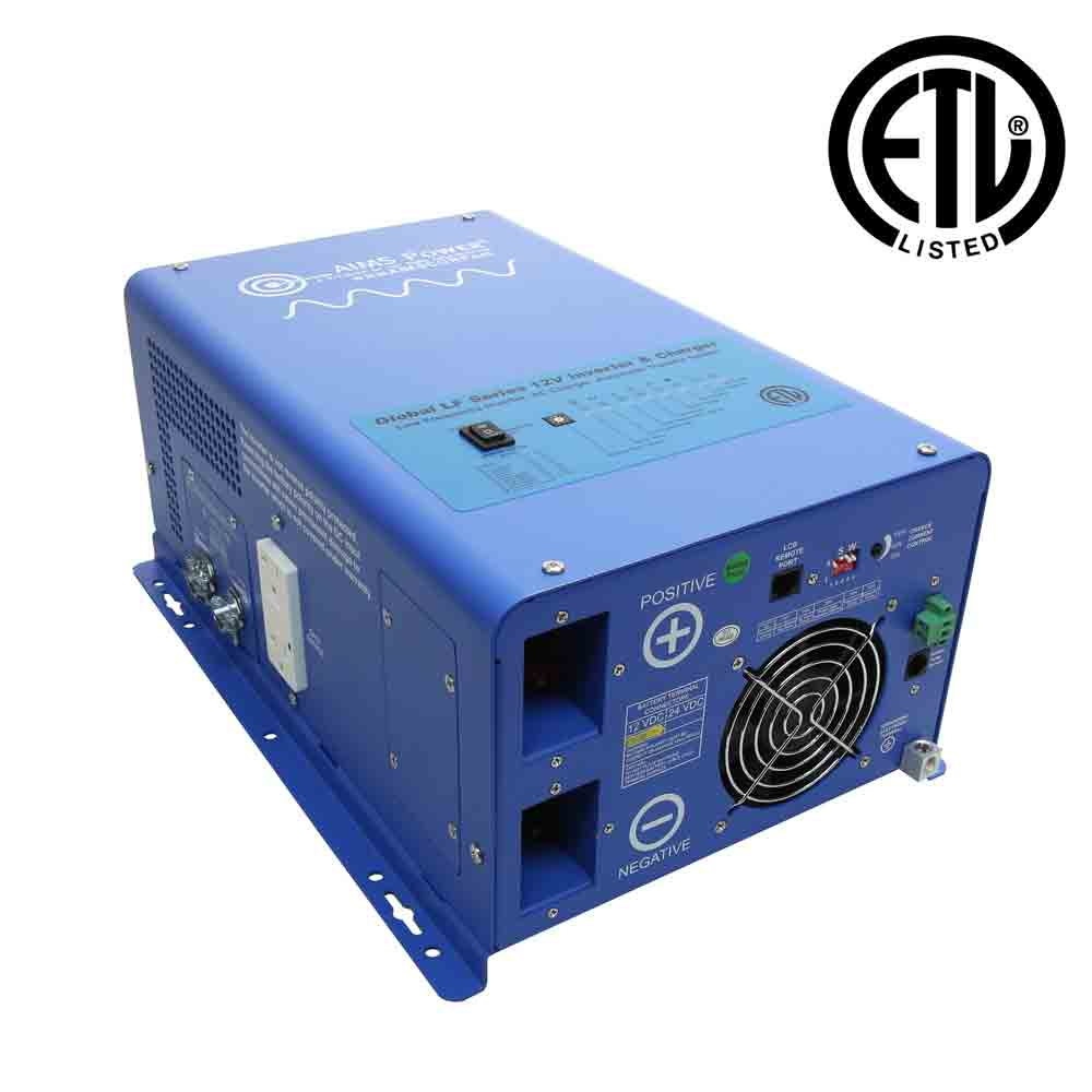1000 Watt Pure Sine Inverter Charger - ETL Certified Conforms to UL458 Standards
