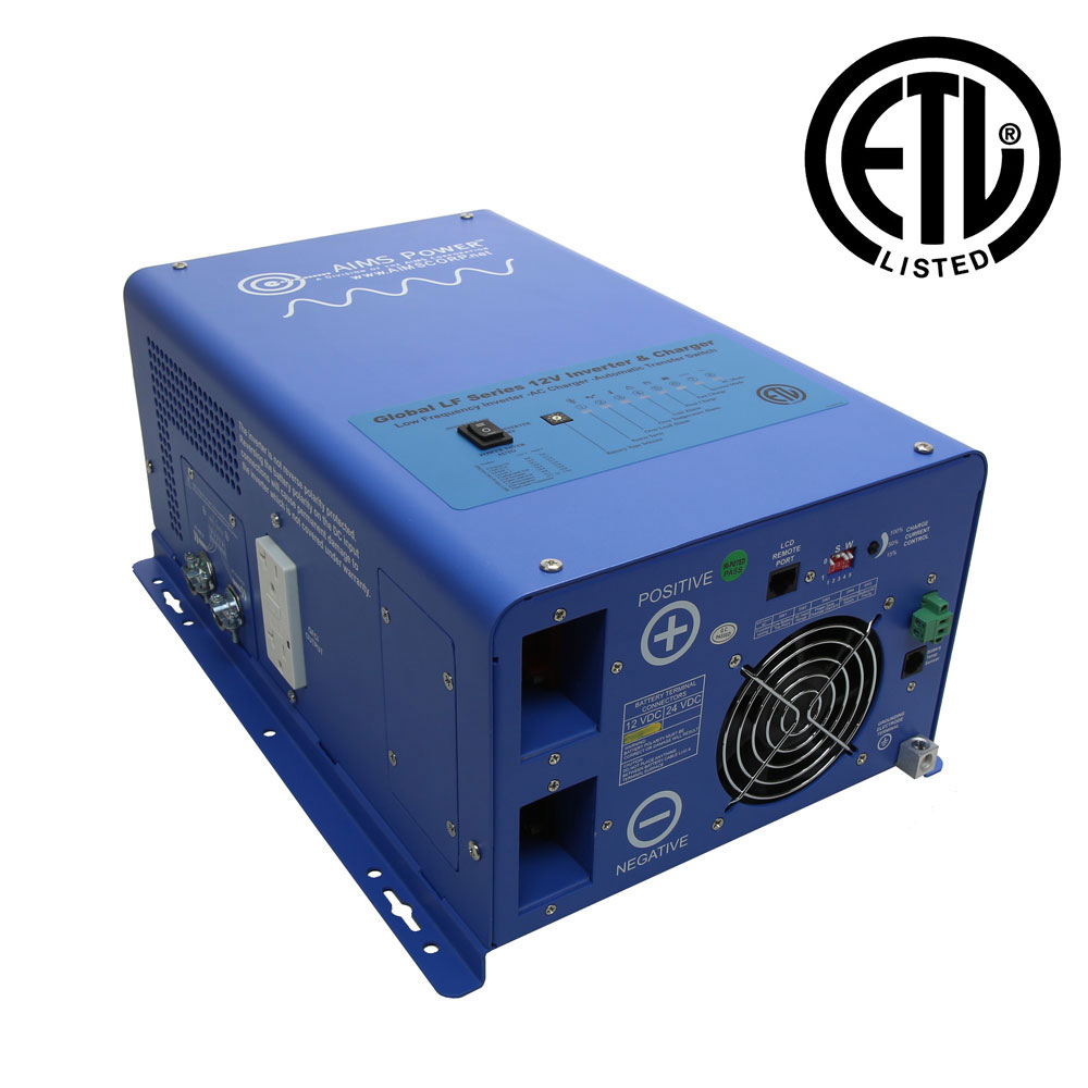 3000 Watt Pure Sine Inverter Charger - ETL Certified Conforms to UL458 Standards