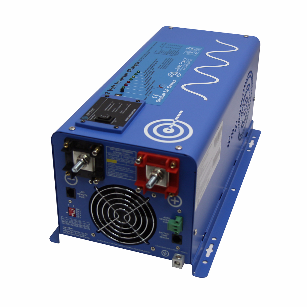 3000 Watt Pure Sine Inverter Charger with Solar