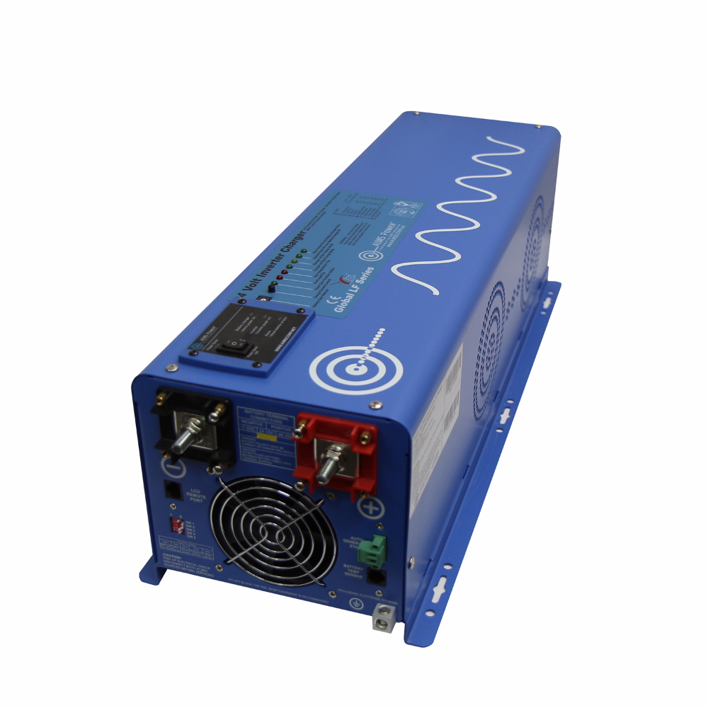 4000 Watt 24 Volt Pure Sine Inverter Charger Power Supply 10 Amp Single Output 24vdc To 120vac