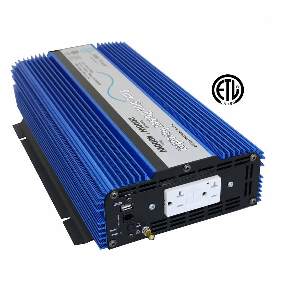 2000 Watt Pure Sine Wave Inverter ETL Listed to UL 458