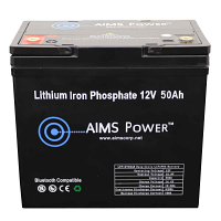 Lithium Battery 12V 50Ah LiFePO4 Lithium Iron Phosphate with Bluetooth Monitoring