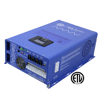 8000 Watt Pure Sine Inverter Charger - 48 Vdc / 240Vac Input & 120/240Vac Split Phase Output ETL Listed to UL 1741