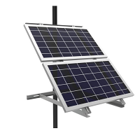 Adjustable Solar Side Pole Mount Bracket – Fits 2 Panels - Out of Stock