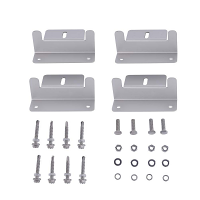 Solar Panel Z Bracket Mounting Kit 4 Piece Set
