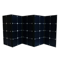 120 Watt Portable Foldable Solar Panel With Built In Carrying Case Monocrystalline