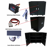 Battery Cabinet – Industrial Grade – Fits up to 12 Batteries Pre-Wired